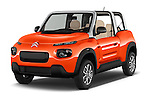 2016 Citroen E-Mehari 3 Door Convertible Angular Front stock photos of front three quarter view