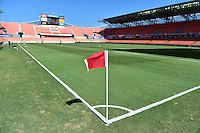 Houston, TX - Sunday Oct. 09, 2016: BBVA Compass Stadium prior to the National Women's Soccer League (NWSL) Championship match between the Washington Spirit and the Western New York Flash at BBVA Compass Stadium.