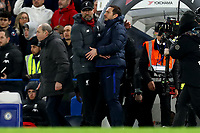 3rd March 2020; Stamford Bridge, London, England; English FA Cup Football, Chelsea versus Liverpool; Liverpool Manager Jurgen Klopp shakes hands with Chelsea Manager Frank Lampard at full time