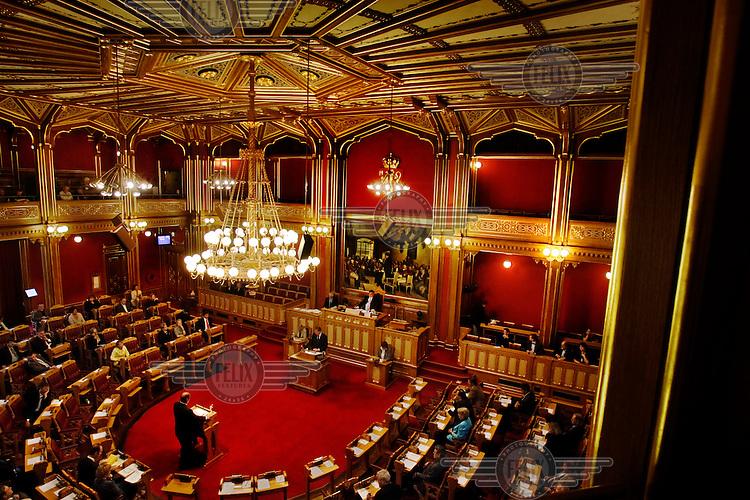 The Norwegian Parliament, the Stortinget.