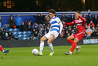 Luke Amos of Queens Park Rangers shot saved by Darren Randolph of Middlesbrough during Queens Park Rangers vs Middlesbrough, Sky Bet EFL Championship Football at Loftus Road Stadium on 9th November 2019