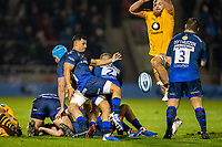 8th November 2019; AJ Bell Stadium, Salford, Lancashire, England; English Premiership Rugby, Sale Sharks versus Coventry Wasps; Embrose Papier of Sale Sharks clears the ball - Editorial Use