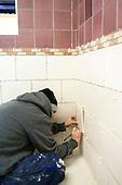 Tiling student, Able Skills, Dartford, Kent.