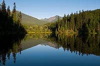 Mirror reflection on Flower Creek Reservoir