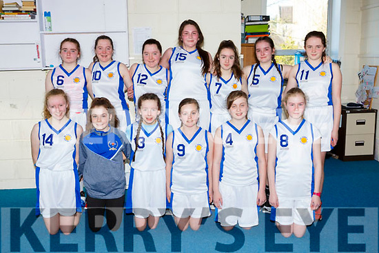The St Annes  team that played St Josephs in the u14 Girls cup final in Killarney on Sunday