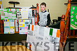 Marc Carmody from Connolly Park with his 1916 Easter Project at the Connolly Park celebration of the 1916 Rising on Monday.