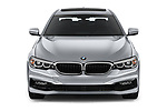 Car photography straight front view of a 2019 BMW 5 Series 540i Sport Line 4 Door Sedan