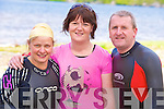 Ready for action at the Killarney Lions Club triathlon on Saturday morning were Margaret Harty, Marguerite Harty and Jim Hughes.