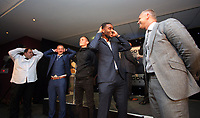 Pictured: Leroy Fer (4th L) and Lee Trundle (R) Wednesday 18 May 2017<br />Re: Swansea City FC, Player of the Year Awards at the Liberty Stadium, Wales, UK.
