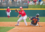 5 March 2016: Washington Nationals infielder Danny Espinosa makes a play at second as Detroit Tigers third baseman Nick Castellanos slides in safely after a wild pitch in the 4th inning of a Spring Training pre-season game at Space Coast Stadium in Viera, Florida. The Nationals defeated the Tigers 8-4 in Grapefruit League play. Mandatory Credit: Ed Wolfstein Photo *** RAW (NEF) Image File Available ***