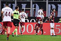 Esultanza Gol Alessandro Florenzi Roma Goal celebration <br /> Milano 01-10-2017 Stadio Giuseppe Meazza Football Calcio Serie A 2017/2018 Milan - Roma Foto Federico Tardito/Insidefoto