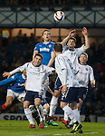 Jon Daly rises for the ball