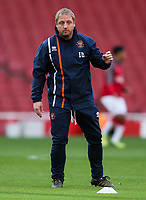 Blackpool U18's Head of Academy Coaching Ian Dawes<br /> <br /> Photographer Andrew Kearns/CameraSport<br /> <br /> Emirates FA Youth Cup Semi- Final Second Leg - Arsenal U18 v Blackpool U18 - Monday 16th April 2018 - Emirates Stadium - London<br />  <br /> World Copyright &copy; 2018 CameraSport. All rights reserved. 43 Linden Ave. Countesthorpe. Leicester. England. LE8 5PG - Tel: +44 (0) 116 277 4147 - admin@camerasport.com - www.camerasport.com