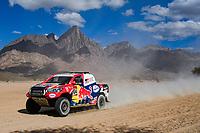 6th January 2020, Al Wajh to Neom, Saudi Arabia;   304 De Villiers Giniel zaf, Haro Bravo Alex esp, Toyota Hilux, Toyota Gazoo Racing Dakar Rally 2020  - Editorial Use