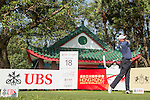 Graeme Storm of England tees off the 18th hole during the 58th UBS Hong Kong Golf Open as part of the European Tour on 08 December 2016, at the Hong Kong Golf Club, Fanling, Hong Kong, China. Photo by Vivek Prakash / Power Sport Images