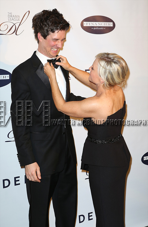 Christian Hebel and Rachael Harris attends the Drama League's 30th Annual 'Musical Celebration of Broadway' honoring Neil Patrick Harris at the Pierre Hotel on February 3, 2014 in New York City.