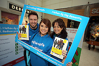 Pictured L-R: Ian Robson, Sara Manchipp and Louisa Lorey Saturday 18 Saturday<br />Re: Welsh Government Dementia Risk Prevention Roadshow at the Quadrant Shopping Centre in Swansea, Wales, UK.