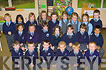 Kilcummin NS junior infants on Tuesday front row l-r: Daniel Horgan, Matthew Fogarty, Jack O'Donoghue, Anthony Carroll, Dara O'Shea, Evan O'Sullivan. Middle row: Saoirse Sweeney, Caoimhe Lehane, Louise O'Leary, Cara O'Connell, Ailbhe Brosnan, Danielle Gleeson, Jim Healy. Back row: James O'Connell, Lulu Healy, Lauren Fleming, Katlyn O'Riordan-O'Connor, Ella Kehoe, Rebecca O'Connor, Becci Fleming, Kate Sheehan and Donogh Fahy