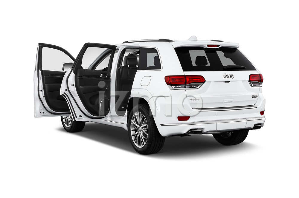 Car images close up view of a 2018 Jeep Grand-Cherokee Summit 5 Door SUV doors