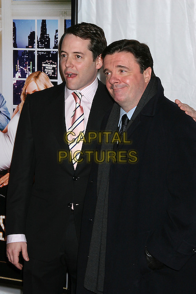 "MATTHEW BRODERICK & NATHAN LANE .""The Producers"" New York Premiere at the Ziegfeld Theatre, New York City..December 4th, 2005 .Ref: IW.half length .www.capitalpictures.com.sales@capitalpictures.com.©Capital Pictures"