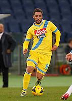 Gonzalo Higuain durante l'incontro di calcio di Serie A  Lazio Napoli   allo  Stadio Olimpico  di Romai , 2 Dicembre 2013<br /> Foto Ciro De Luca