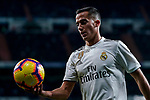 Lucas Vazquez of Real Madrid holds the ball during the La Liga 2018-19 match between Real Madrid and Rayo Vallencano at Estadio Santiago Bernabeu on December 15 2018 in Madrid, Spain. Photo by Diego Souto / Power Sport Images