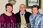 Enjoying the Blennerville Senior Citizens after Christmas Party in Kerins O'Rahilly's GAA Club,on Sunday l-r: Phil Curran,Donal Kelliher and Kathleen Collins.
