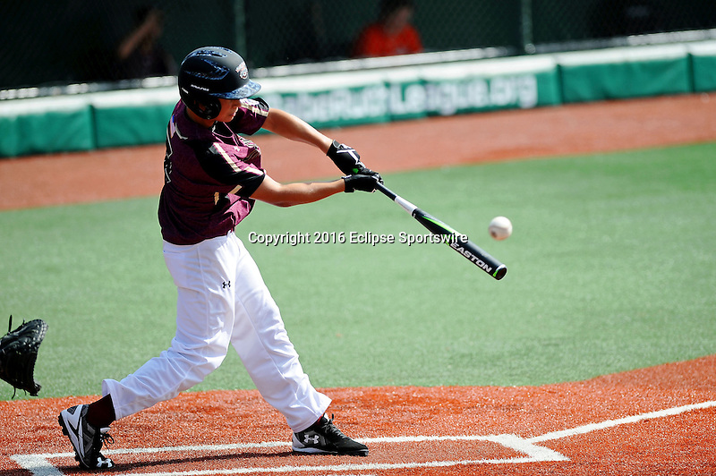 Aberdeen, MD - JULY 31: Noah Toney #12 of Florence (AL) at bat against New Milford (CT) during the Cal Ripken World Series at The Ripken Experience Powered by Under Armour on July 31, 2016 in Aberdeen, Maryland. (Photo by Ripken Baseball/Eclipse Sportswire/Getty Images)