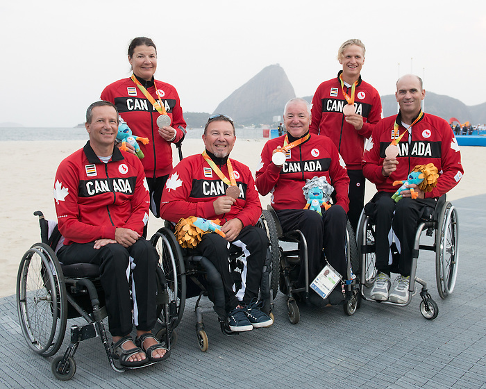 RIO DE JANEIRO - 17/9/2016: The Sailing Team at the Marina da Gloria during the Rio 2016 Paralympic Games in Rio de Janeiro, Brazil. (Photo by Matthew Murnaghan/Canadian Paralympic Committee)