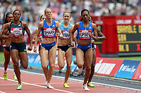 Charlene Lipsey of USA and Lynsey Sharp of Great Britain compete in the womenís 800 metres during the Muller Anniversary Games at The London Stadium on 9th July 2017