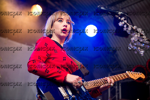 The Joy Formidable - vocalist and guitarist Ritzy Bryan - performing live at The Cockpit in Leeds UK -  25th Feb 2013.  Photo credit: Polly Thomas/Music Pics Ltd/IconicPix