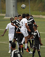 Action from the Fiji Football Association Battle Of The Giants tournament match between Ba (black kit) and Savusavu (white) in Wellington, New Zealand on Saturday, 25 March 2017. Photo: Dave Lintott / lintottphoto.co.nz