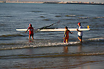TEAM CARRIES BOAT into the SEA to COMPETE at the LATIN AMERICA WATER OLYMPICS