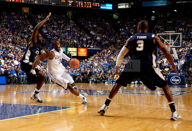 Terrence Jones drives the ball in the second half of UK's win over ETSU at Rupp Arena on  Friday Nov. 12 , 2010. Photo by Britney McIntosh | Staff