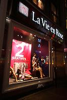 Montreal Qc CANADA _ august 2012 : retails stores in downtown Montreal - La Vie en Rose lingerie