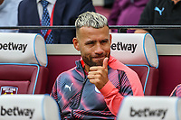 Sergio Aguero of Manchester City during the Premier League match between West Ham United and Manchester City at the London Stadium, London, England on 10 August 2019. Photo by David Horn.