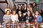 Ciara Murphy of Strand Rd, seated front centre, celebrates her Sweet 16th birthday in the La Scala Restaurant on Saturday night with her fiends,    <br /> Seated l-r, Chloe Dillon, Lauren Scannell, Birthday Girl Ciara Murphy, Orla Doyle and Jessica Murphy.<br /> Back l-r, Gillian Hart, Wendy Jakpovi, Maeve Burn, Ailish O&rsquo;Sullivan, Joy Murphy and Jessica Cotter.