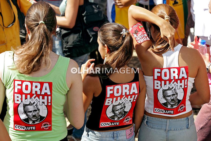 Celebração do Dia Internacional da Mulher. São Paulo. 2007. Foto de Caetano Barreira.
