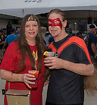Cathy and Kevin during the Super Hero Crawl in Reno on Saturday, July 15 2017.