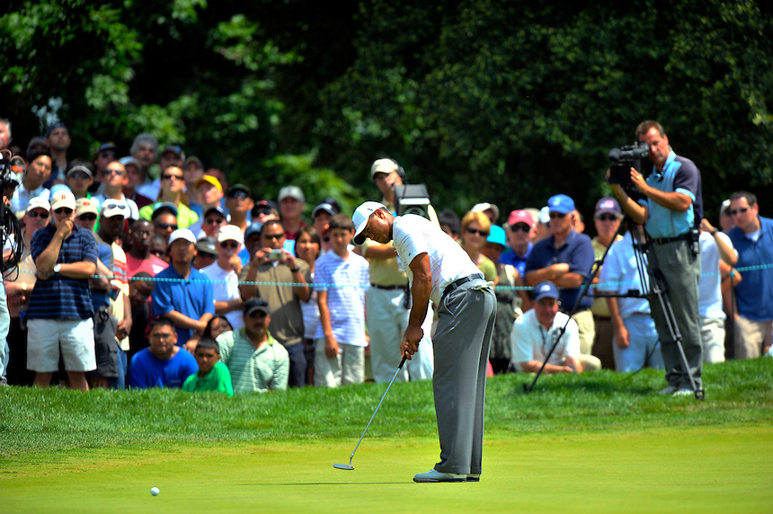 during the AT&T Nationals at the Congressional Country Club in Bethesda, MD on Friday, July 3, 2009.  Alan P. SantosTiger Woods