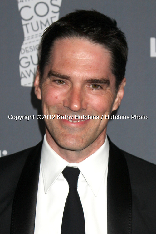 LOS ANGELES - FEB 21:  Thomas Gibson arrives at the 14th Annual Costume Designers Guild Awards at the Beverly Hilton Hotel on February 21, 2012 in Beverly Hills, CA.