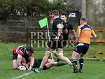 Boyne Joe Sweeney scores try. Photo:Colin Bell/pressphotos.ie