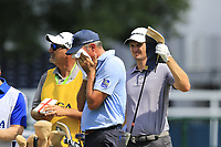 Matt Kuchar (USA) feels the heat on the 1st tee during Friday's Round 2 of the 2017 PGA Championship held at Quail Hollow Golf Club, Charlotte, North Carolina, USA. 11th August 2017.<br /> Picture: Eoin Clarke | Golffile<br /> <br /> <br /> All photos usage must carry mandatory copyright credit (&copy; Golffile | Eoin Clarke)