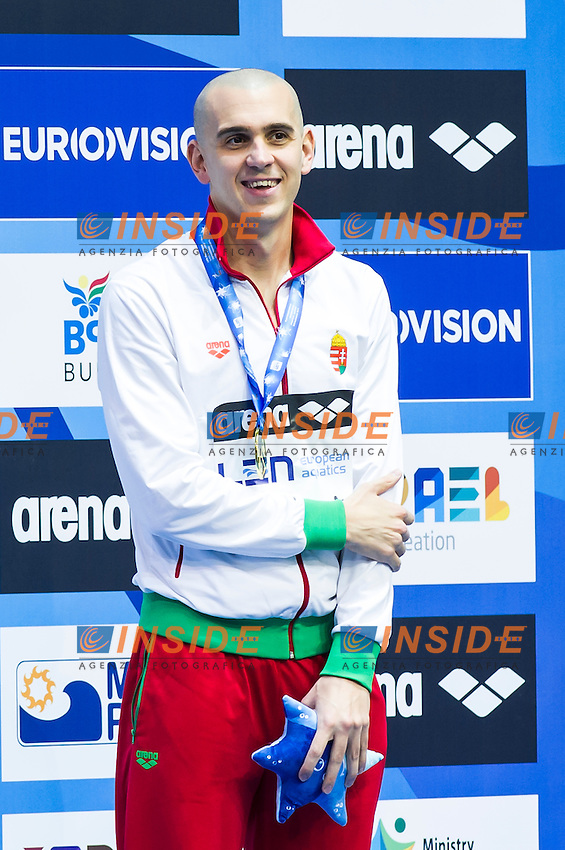 CSEH Laszlo HUN gold medal<br /> Men's 100m butterfly final<br /> Netanya, Israel, Wingate Institute<br /> LEN European Short Course Swimming Championships  Dec. 2 - 6, 2015 Day02 Dec. 3nd<br /> Nuoto Campionati Europei di nuoto in vasca corta<br /> Photo Insidefoto