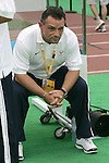 07 August 2008: United States head coach Peter Nowak (POL).  The men's Olympic team of the United States defeated the men's Olympic soccer team of Japan 1-0 at Tianjin Olympic Center Stadium in Tianjin, China in a Group B round-robin match in the Men's Olympic Football competition.