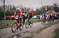John Degenkolb (DEU/Trek-Segafredo) over the cobbles<br /> <br /> 61th E3 Harelbeke (1.UWT)<br /> Harelbeke - Harelbeke (206km)