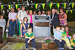 Tony McSweeney cuts the tape to officially unveil the Farranfore-Valentia Island Railway commemoration plaque on Friday evening