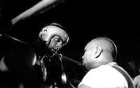 Roma  .Incontro  di boxe dilettanti.Il maestro Cesare Costantini all'angolo  con il pugile Crescenzi