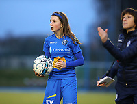 20191221 - WOLUWE: Debbie Coenraets is pictured with the ball during the Belgian Women's National Division 1 match between FC Femina WS Woluwe A and KAA Gent B on 21st December 2019 at State Fallon, Woluwe, Belgium. PHOTO: SPORTPIX.BE | SEVIL OKTEM