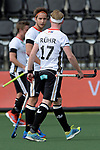 NED - Amsterdam, Netherlands, August 20: During the men Pool B group match between Germany (white) and Ireland (green) at the Rabo EuroHockey Championships 2017 August 20, 2017 at Wagener Stadium in Amsterdam, Netherlands. Final score 1-1. (Photo by Dirk Markgraf / www.265-images.com) *** Local caption *** Marco Miltkau #22 of Germany, Christopher Ruehr #17 of Germany